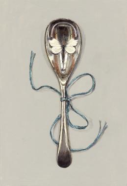 Hybrid Gallery Rachel  Ross Spoon tied with Blue Silk
