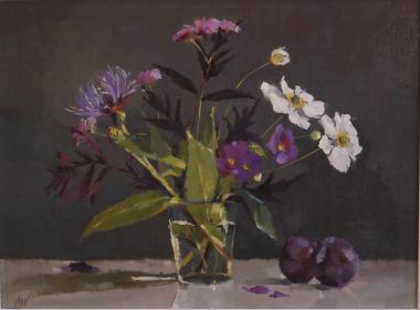 Hybrid Gallery Annie Waring Japanese Anemone, Black Elder and Plums