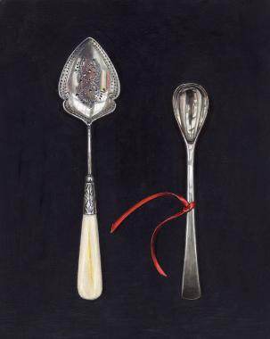 Hybrid Gallery Rachel Ross Small Spoons with Red Ribbon