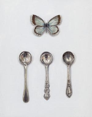 Hybrid Gallery Rachel Ross Chalkhill Blue with Salt Spoons