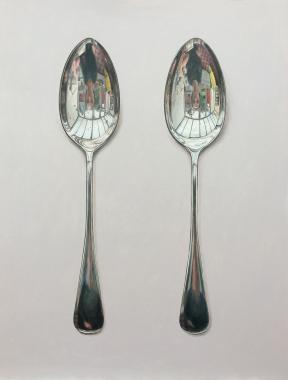 Hybrid Gallery Rachel Ross Two Silver Spoons