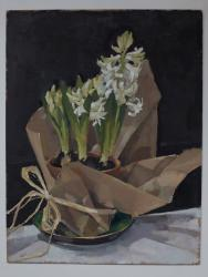 Hyacinths in Brown Paper