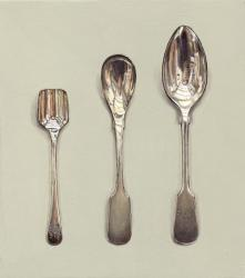 Three Differently Shaped Spoons