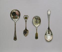Arranged With Caddy Spoon