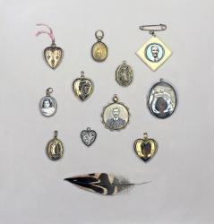 Hybrid Gallery Rachel Ross Lockets with Feather