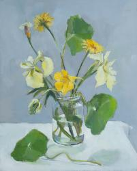 Hybrid Gallery Annie Waring Yellow Iris and Nasturtium