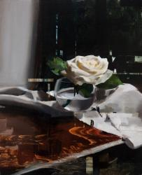 Hybrid Gallery Jon Doran Rose on Table with Linen