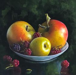 Hybrid Gallery Denise Heywood Apples and Blackberries