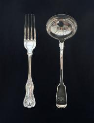 Hybrid Gallery Rachel Ross Fork and Ladle on Black