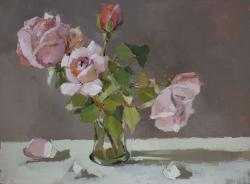 Hybrid Gallery Annie Waring Rose with Fallen Petals