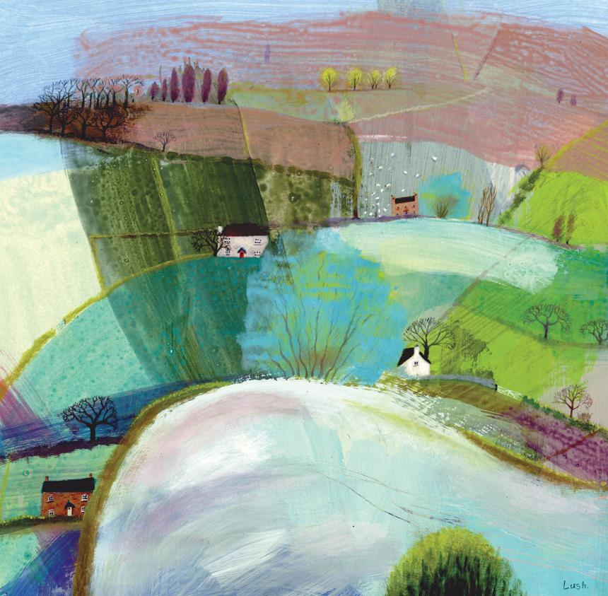 Hybrid Gallery Debbie Lush Little Pink House with Sheep