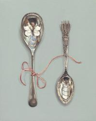 Hybrid Gallery Rachel Ross Spoons with Pink Silk and Butterfly