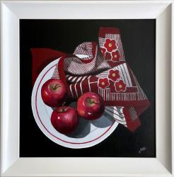 Hybrid Gallery Gill Hamilton Red Apples on Scarf